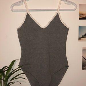 Grey Sporty Bodysuit